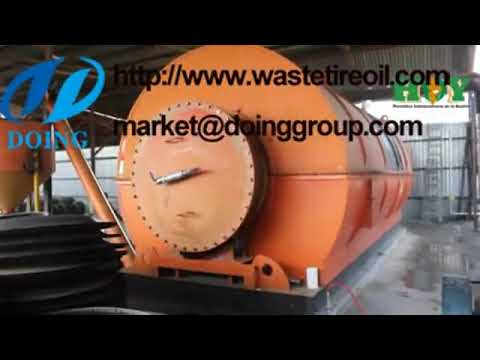 Tyre pyrolysis plant pyrolysis process waste tyre to fuel oil in Mexico by  reported video
