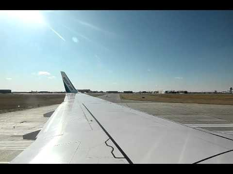 West Jet B737-700 take off, Saskatoon-Calgary