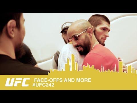 UFC 242 Abu Dhabi FACE OFFS - KHABIB Vs POIRIER - FULL ACCESS.