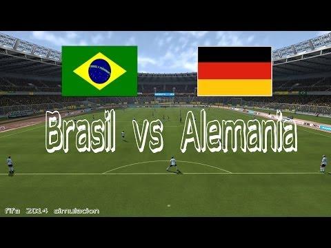 Mundial 2014 | Brasil - Alemania | Semifinales | Simulación Fifa 2014 | 1080p60