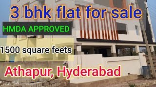 1500 sft 3bhk flat for sale in…