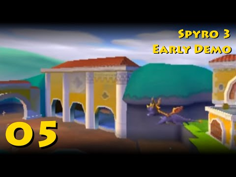 Spyro 3 Early Demo 05 - Unused Fly-In, Sheila's Area And Glitches