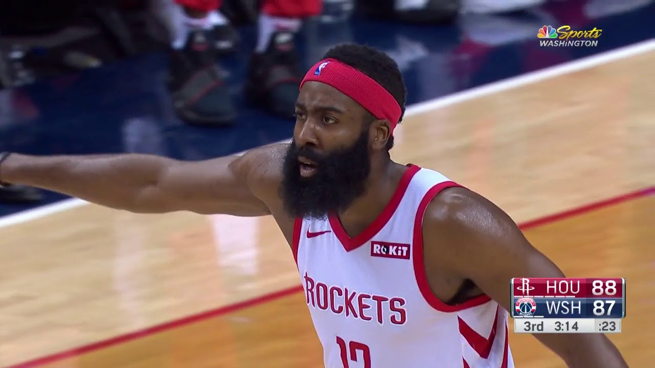 James Harden Drops 21 in Third Quarter, 54 Points Overall in OT Loss to Wizards