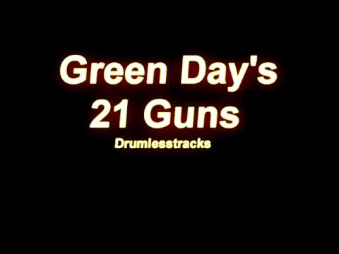 Green Day  21 Guns Drumlesstrack