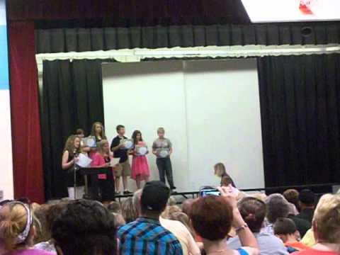bri's graduation from 5th grade at holmes elementary school wilmington, ohio part 1