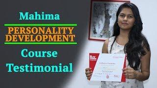 Personality Development Course in Chandigarh - Mahima Testimonial