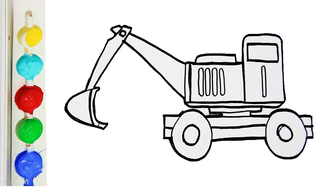 contoh gambar mewarnai mobil traktor