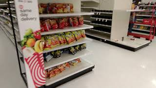 Texas Snow Storm Empty Target Grocery Store All Shelfs Are Empty 02-18-2021