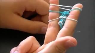 Плести браслеты из резинок без станка - урок 78