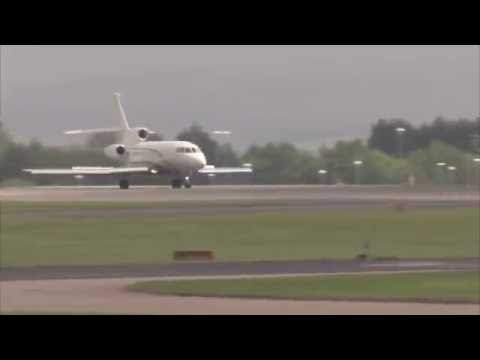 Paul pogba private jet 60XR arrives in Manchester ready for a medical with Manchester United