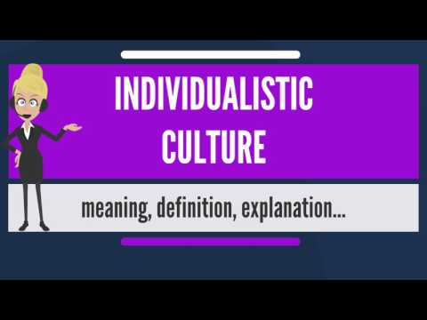 What is INDIVIDUALISTIC CULTURE? What does INDIVIDUALISTIC CULTURE mean?