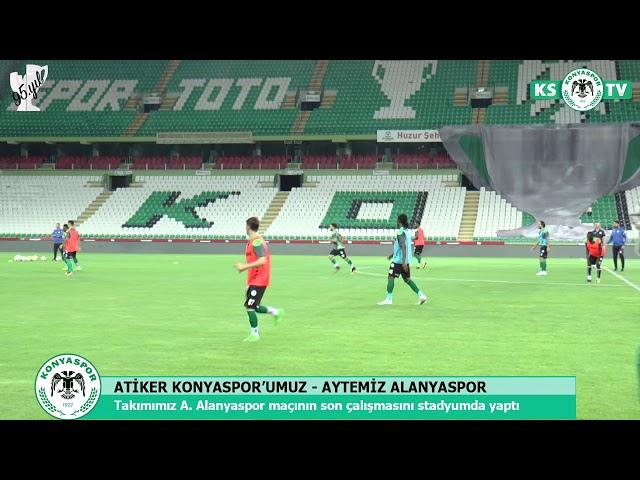 Takımımız, A. Alanyaspor maçının son çalışmasını stadyumda yaptı