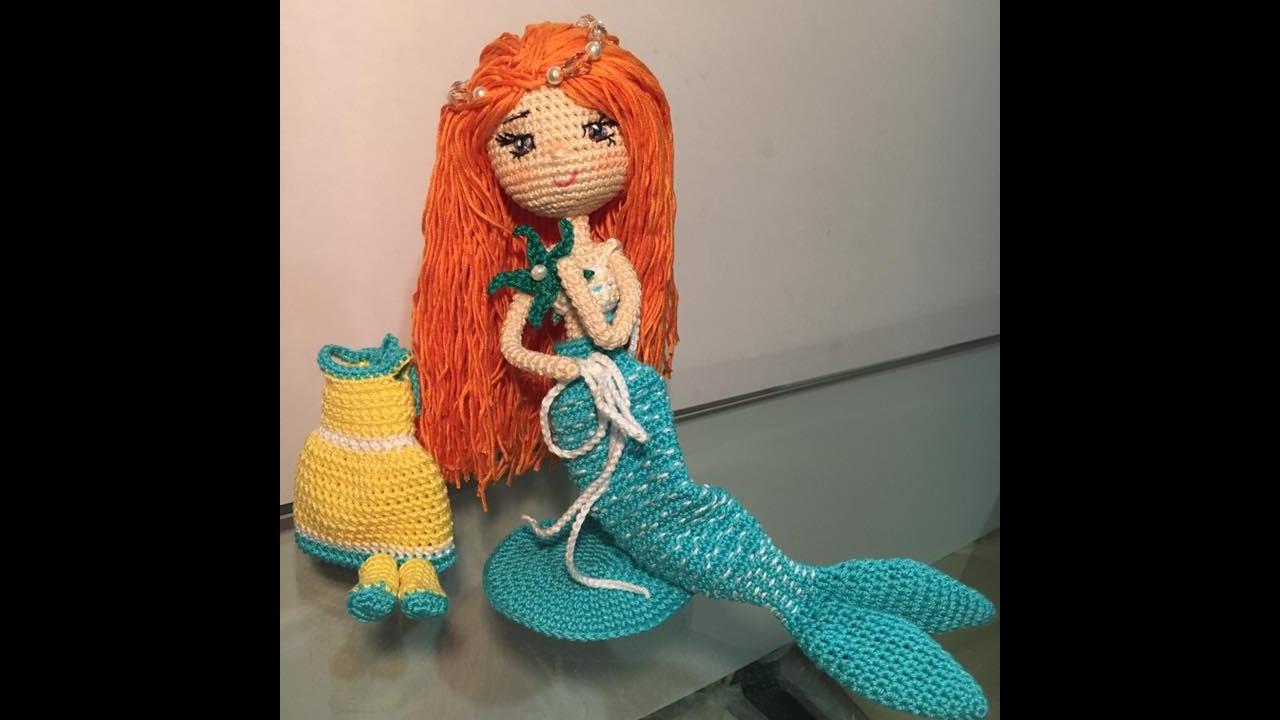 Como tejer cola de muñeca Sirenita Amigurumi By Petus (1/2) QUINTA ...