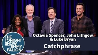 catchphrase with octavia spencer john lithgow and luke bryan
