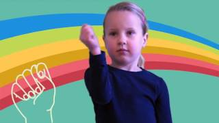 Toilet in Sign Language, ASL Dictionary for kids