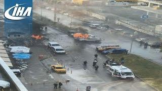 İzmir'de Saldırı! İLK GÖRÜNTÜLER