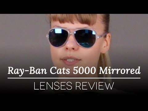 dee9daa4007 Ray-Ban RB4125 Cats 5000 Mirrored Sunglasses Review - YouTube