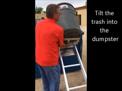 Dumping trash cans using a Dump Dolly