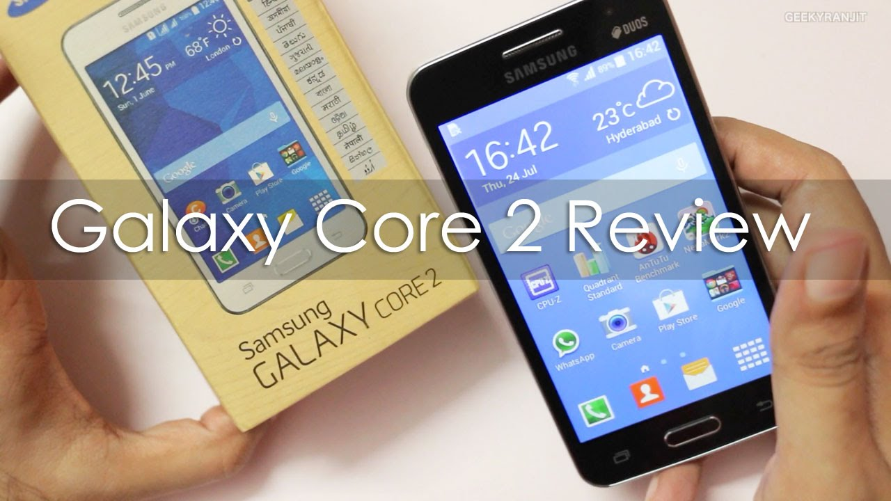 Samsung Galaxy Core 2 Android Phone Review Youtube