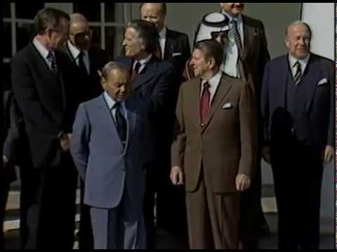 President Reagan during the Working visit of King Hassan II of Morocco on October 22, 1982