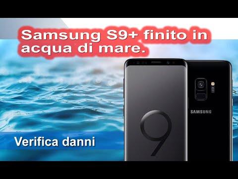 Telefono Samsung s9+ caduto in acqua di mare e tenuto nel riso una settimana. Controlliamo i danni.
