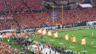 TigerNet.com - Clemson takes the field at the National Championship
