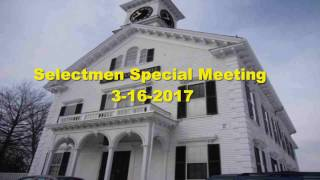 Selectmen Meeting 3/16/2017