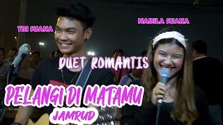 Download Lagu PELANGI DI MATAMU - JAMRUD (LIRIK) LIVE AKUSTIK BY NABILA SUAKA FT. TRI SUAKA mp3