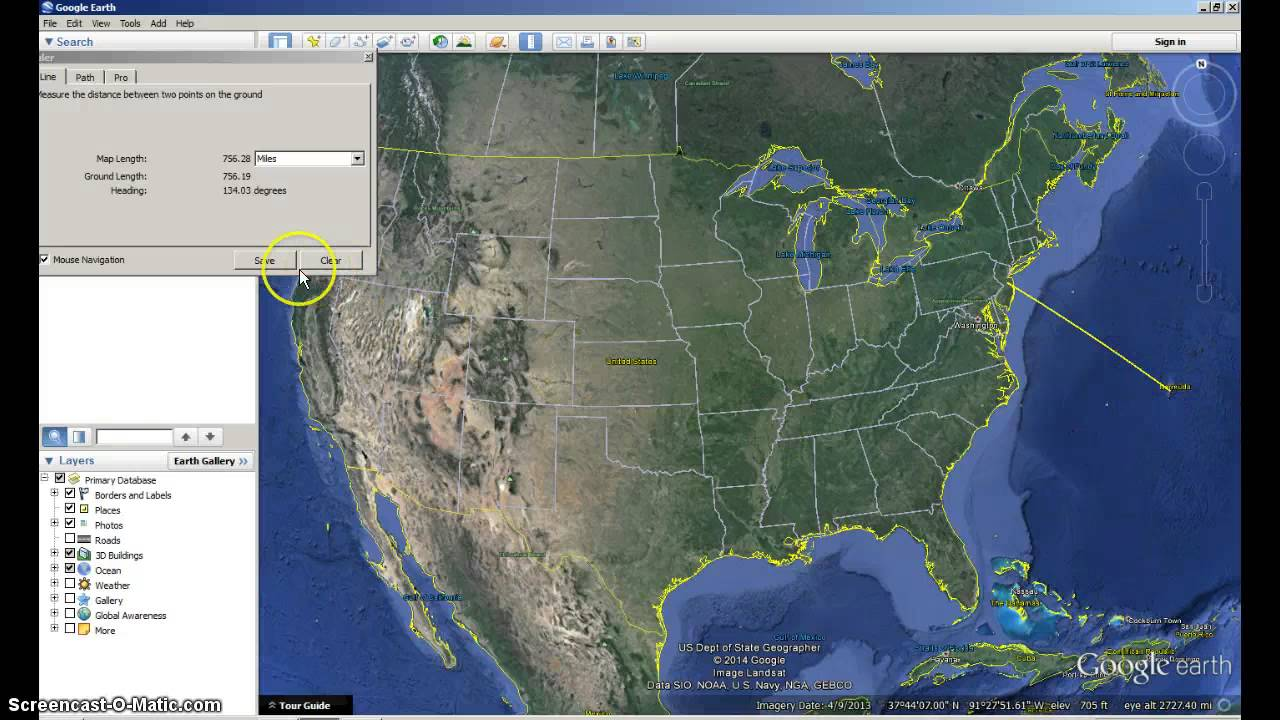 Using Google Earth's Ruler 20161103 How To Find Area
