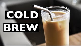 HOW TO MAKE COLD BREW COFFEE VEGAN LATTÉ | ICED COFFEE RECIPE