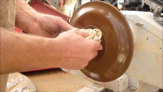 Wood Turning With Naked Turner Claro Walnut Plates