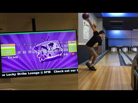 8 Pin no-tap 300 Game - Evan Headley (Youth Bowling)