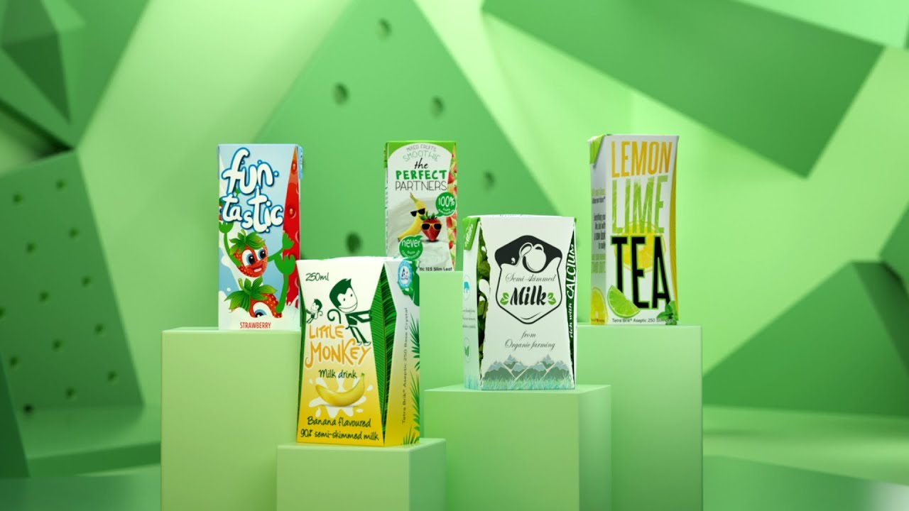 Tetra Brik Aseptic carton packages for liquid foods