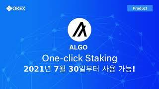 오케이엑스 OKEx, 7월 30일 ALGO 스테이킹 상…