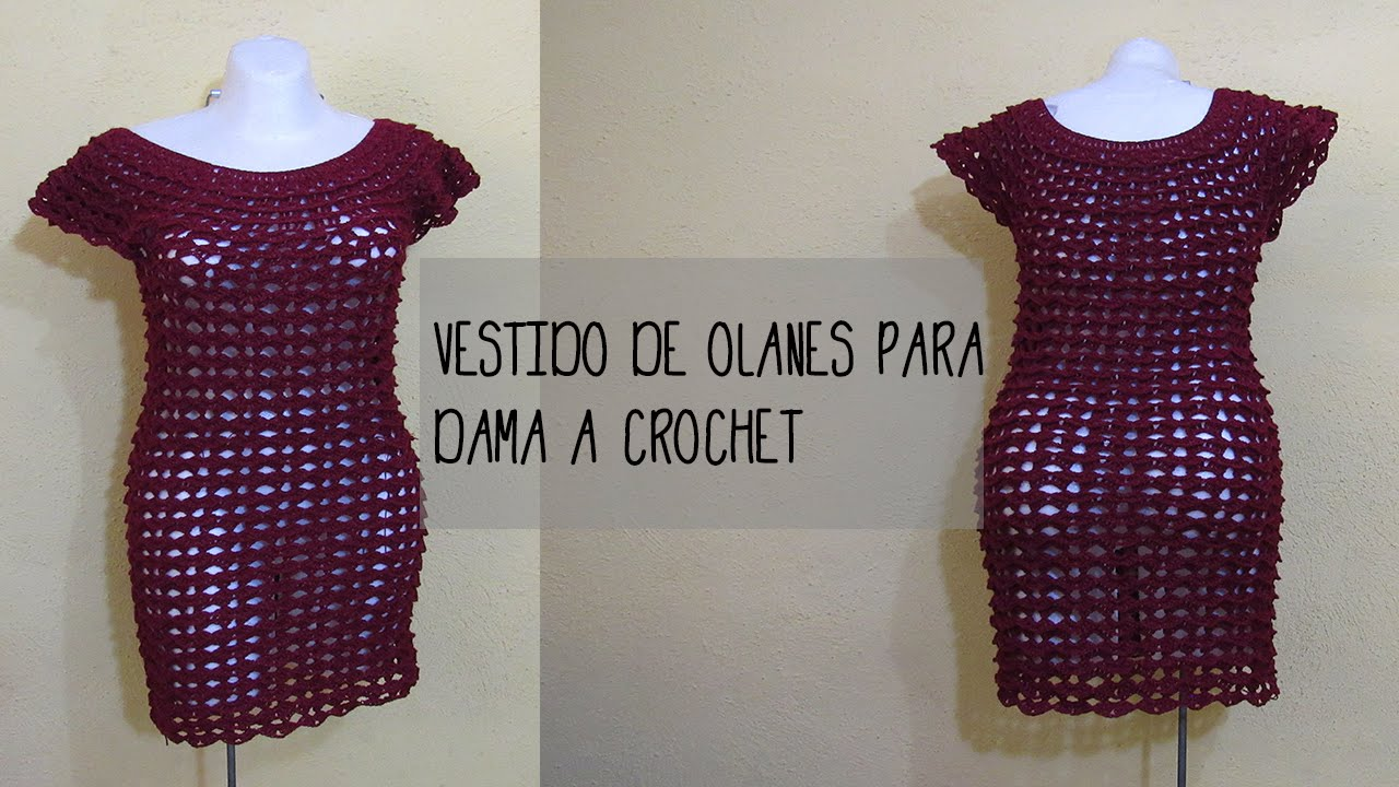 Vestido al crochet para dama