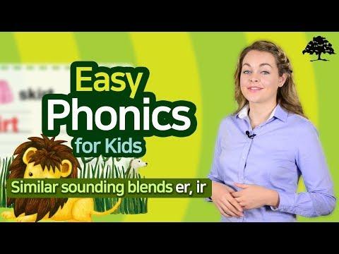Easy Phonics 3 (Unit 10 Similar sounding blends er, ir) | Phonics for Kids | Learn to Read