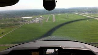 Landing at Saint-Hubert Airport