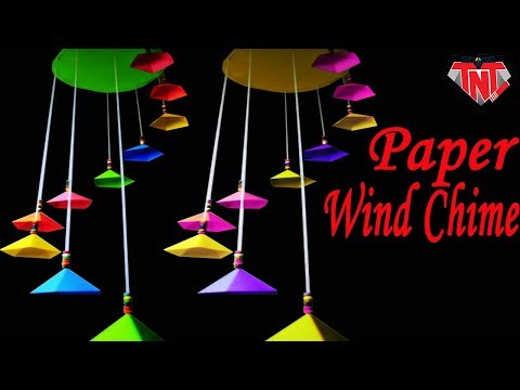 Best Paper Wind Chimes || How To Make A Wind Chime Using Color Paper || DIY Craft Room Decoration