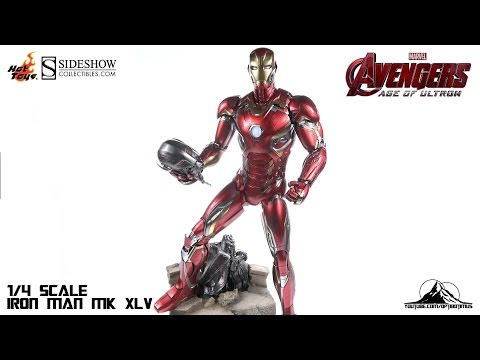Hot Toys Avengers Age of Ultron 1/4th scale Iron Man MK XLV Video Review