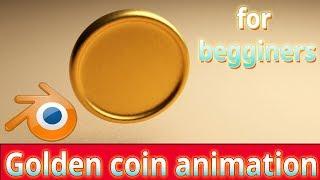 Blender tutorial ||gold coin ||animation for beginners