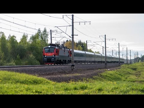 [RZD] Highspeed trains vs night train, Saint-Petersburg - Moscow high-speed railway