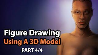 Figure Drawing Using a Poser 10 3D Human Model & Corel Painter [Part 4/4]