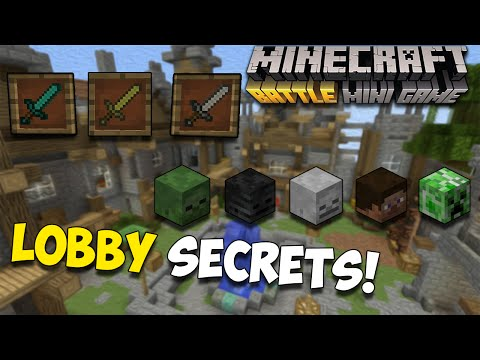 Minecraft Console: BATTLE MODE LOBBY SECRETS! | How to Open Every Door & Get Every Mob Head!