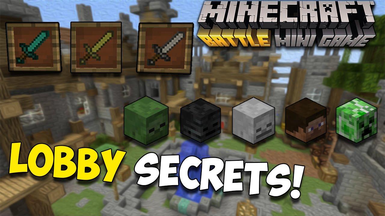 Minecraft Console BATTLE MODE LOBBY SECRETS How To Open Every - Minecraft spiele lobby