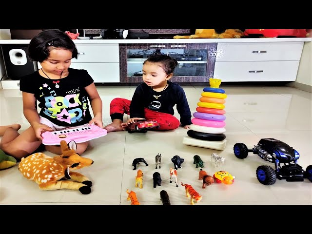 playing toys with priyansh | animals | colors | vechiles | sambalpuri | odia | Hindi | learnwithpari