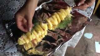 Шашлык из картошки с салом и грудинкой (картошка-кебаб) Barbecue potato