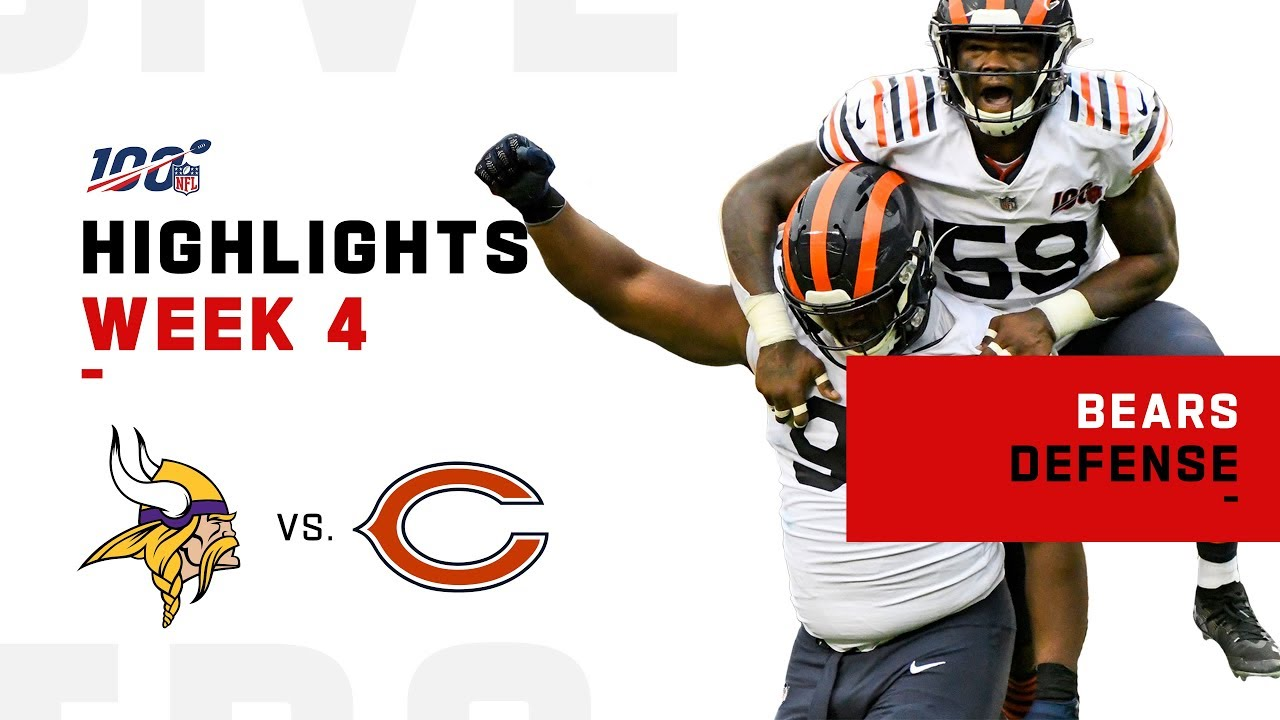 Bears Defense Devours Vikings W 6 Sacks Nfl 2019 Highlights