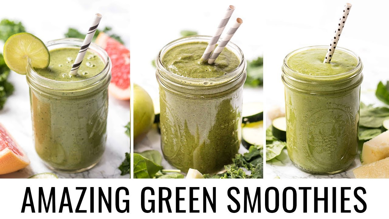 3 AMAZING GREEN SMOOTHIE RECIPS, with hidden veggies