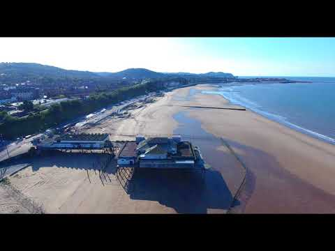 Rhos On Sea Featuring Damaged Colwyn Bay Pier
