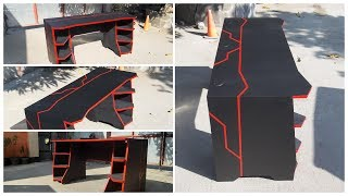 DIY GAMING DESK BLACK RED